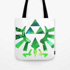 The Legend of Zelda Triforce Green Tote Bag
