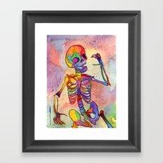 Rainbow Skeleton Framed Art Print