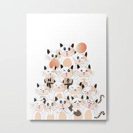 Snow Peach Kitten Metal Print