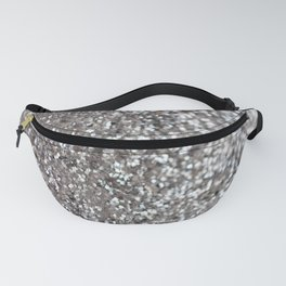 Sparkling SILVER Lady Glitter #1 #decor #art #society6 Fanny Pack