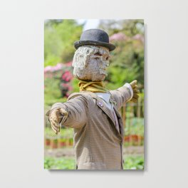 The Lost Gardens of Heligan - Diggory the Scarecrow Metal Print
