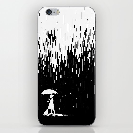 Pixel Rain iPhone & iPod Skin