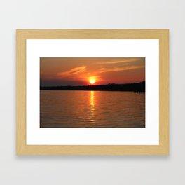 Sunset Over Lake Waccamaw 2 Framed Art Print
