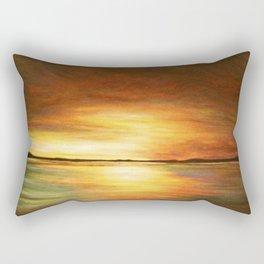 morning coffee and salt air Rectangular Pillow