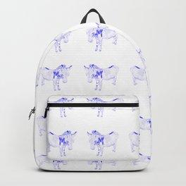 mini donkey drawing, blue Backpack