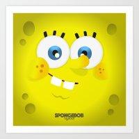 spongebob Art Prints featuring SpongeBob by solostudio