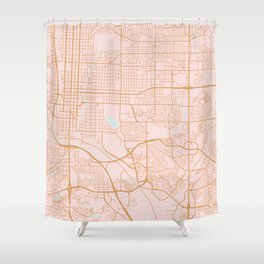 Colorado Springs map Shower Curtain