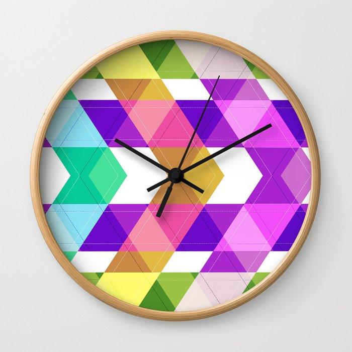 Abstract painting 14 Wall Clock