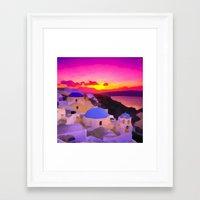 greece Framed Art Prints featuring Greece  by Xchange Art Studio