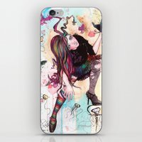 sandman iPhone & iPod Skins featuring Delirium, The Sandman by Anguiano Art