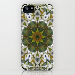 Lacy Serviceberry mandala 0033 k11 iPhone Case