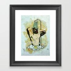 Showering that Sarlacc Off Framed Art Print
