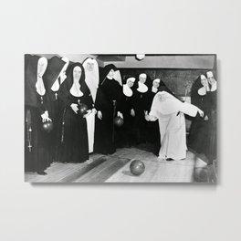 Nuns Bowling Metal Print