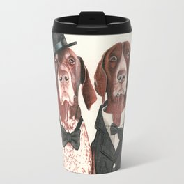 german short hair pointers - F.I.P. @ifitwags (The pointer brothers) Travel Mug