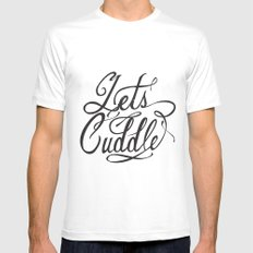 Lets Cuddle Mens Fitted Tee White MEDIUM