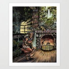 Abuela by Anthony Ojeda Art Print
