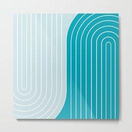 Two Tone Line Curvature IV Metal Print