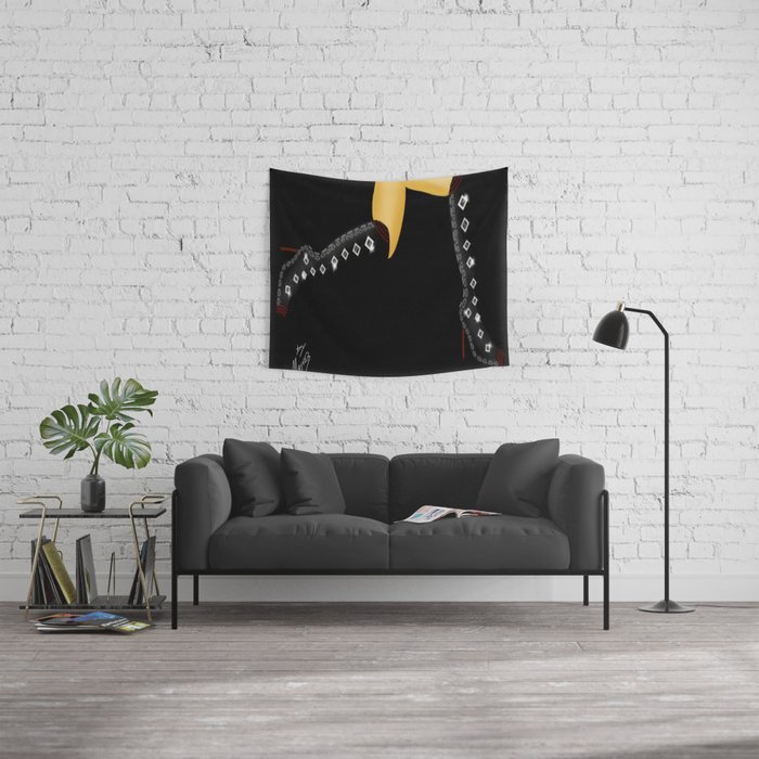 Black Boots, White Legs Running by Mgyver 3 Wall Tapestry