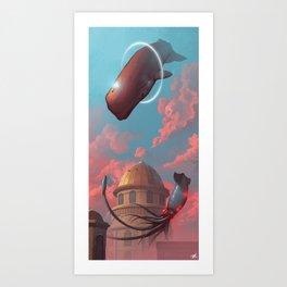 Battle in the Skies Art Print