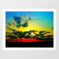 Curdled Clouds Art Print
