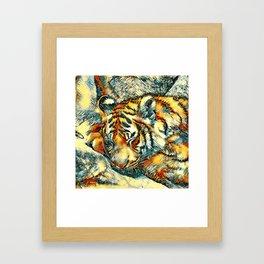 AnimalArt_Tiger_20170606_by_JAMColorsSpecial Framed Art Print
