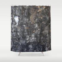 concrete Shower Curtains featuring Concrete by Crimson-daisies