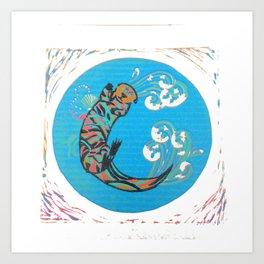 C-Otter Art Print