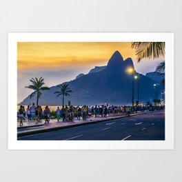Ipanema Beach, Rio de Janeiro, Brazil Art Print