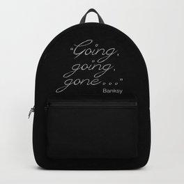 Going, going, gone... Banksy Backpack