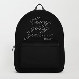 Going, going, gone... Banksy Backpack