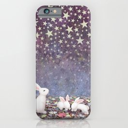bunnies under the stars iPhone Case