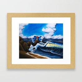 Ariel's Wave Framed Art Print
