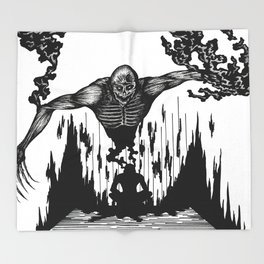 The Monster Within Throw Blanket