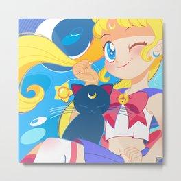 Sailor Moon by Bunny Metal Print