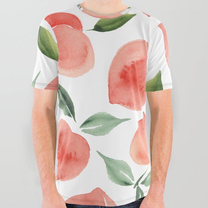 peaches All Over Graphic Tee