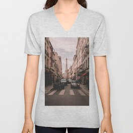 Vintage Paris, France (Color) Unisex V-Neck