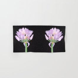 Chives Single Flower Hand & Bath Towel