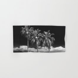 Palm Trees in Black and White on Cabrillo Beach Hand & Bath Towel
