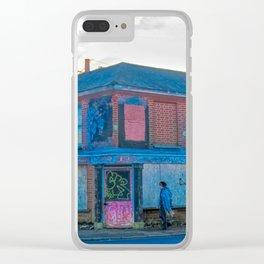 Street Photography, Norwich. U.K Clear iPhone Case