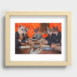 Cats have an agenda Recessed Framed Print