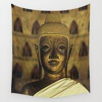 buddhism Wall Tapestries featuring Buddha II by Maria Heyens