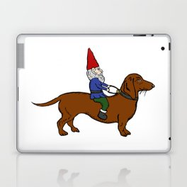 Gnome Riding a Dachshund Laptop & iPad Skin