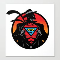 super hero Canvas Prints featuring Super Hero by Greene Graphics
