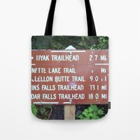 miles davis Tote Bags featuring Trail Miles by NoelleB