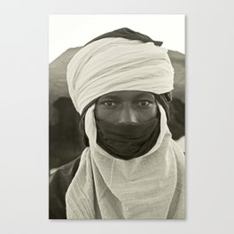 'African pride' - Mohamed from Timbuktu Canvas Print
