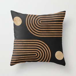 Arches - Minimal Geometric Abstract 2 Throw Pillow