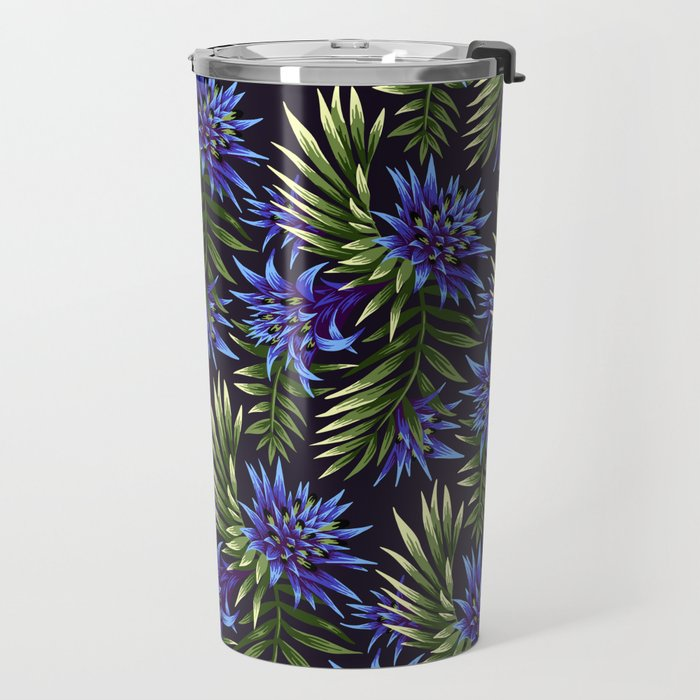 Aechmea Fasciata - Blue/Green Travel Mug