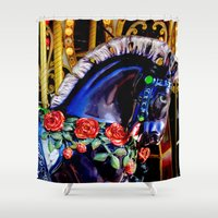 carousel Shower Curtains featuring  Carousel by Jeffrey J. Irwin