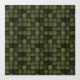 Wood Blocks-Olive Canvas Print