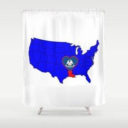 State of Louisiana Shower Curtain